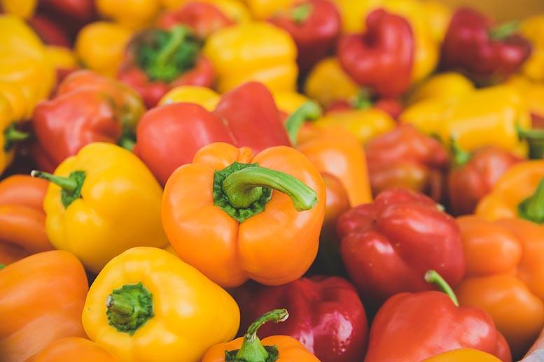 hortalizas, cítricos y fruta de pepita