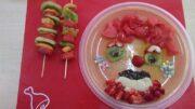 frutas, hortalizas y leche