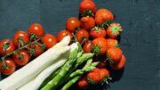 fresón fresa espárragos tomate
