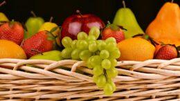 frutas, verduras y productos lácteos en las escuelas